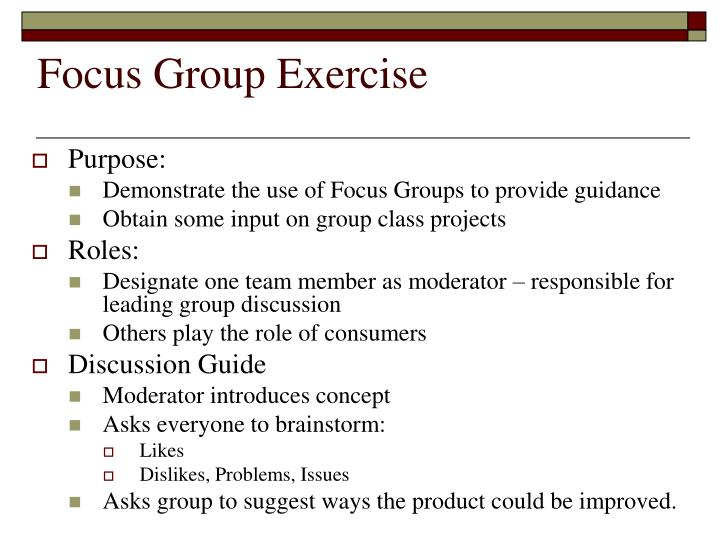 Focus Group Exercise