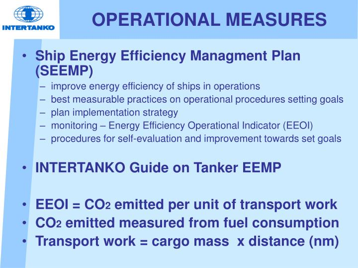 OPERATIONAL MEASURES