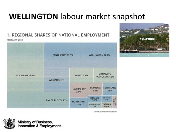 Wellington labour market snapshot