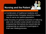nursing and the patient