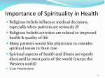importance of spirituality in health