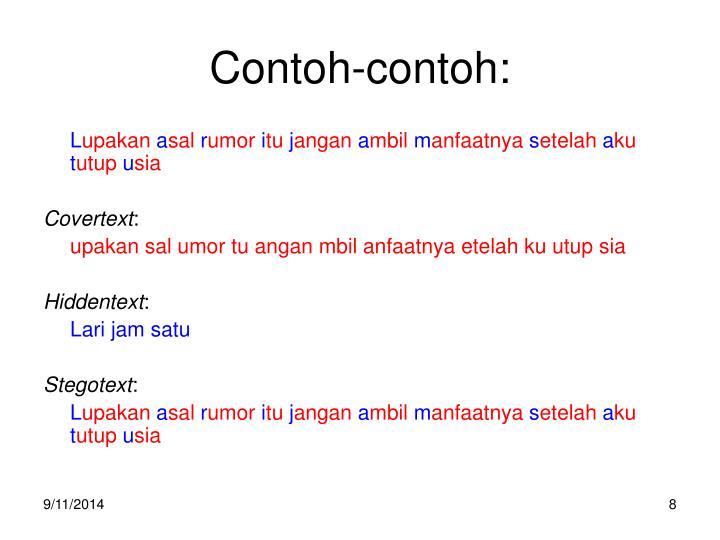 Contoh-contoh: