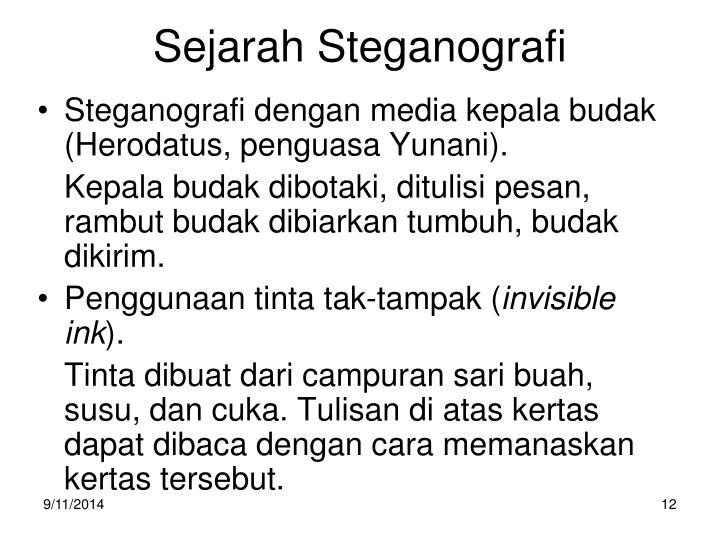 Sejarah Steganografi