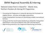bmw regional assembly interreg