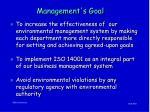 management s goal
