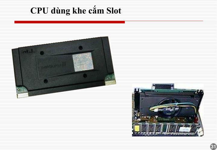 CPU dùng khe cắm Slot