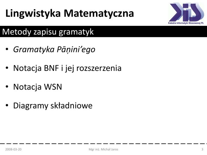Metody zapisu gramatyk