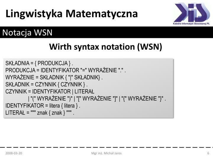 Notacja WSN