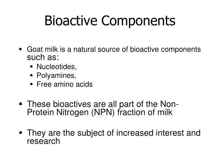 Bioactive Components