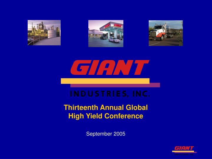 Thirteenth annual global high yield conference