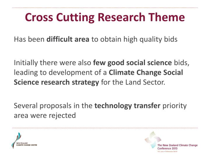 Cross Cutting Research Theme