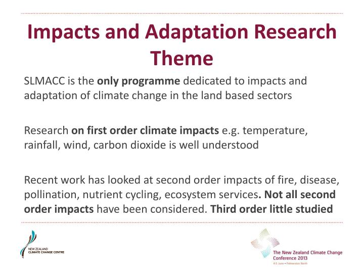 Impacts and Adaptation Research Theme