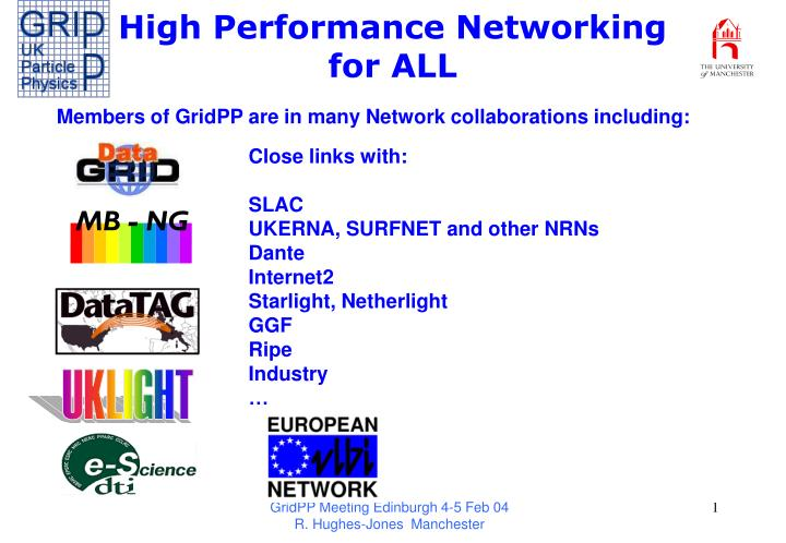 High performance networking for all