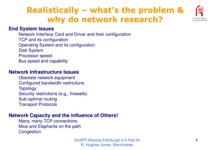 Realistically – what's the problem &