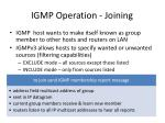 igmp operation joining