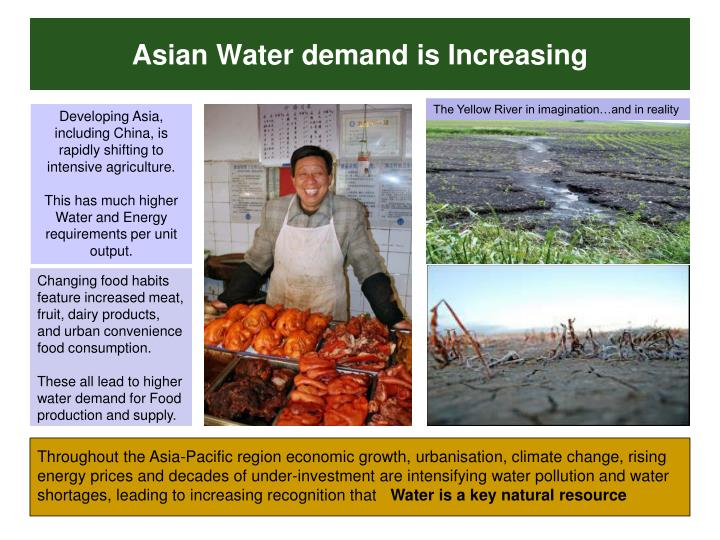 Asian Water demand is Increasing