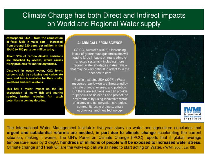 Climate Change has both Direct and Indirect impacts
