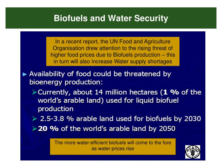 Biofuels and Water Security