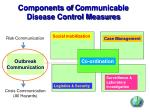 components of c ommunicable disease control measures