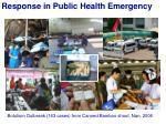 response in public health emergency