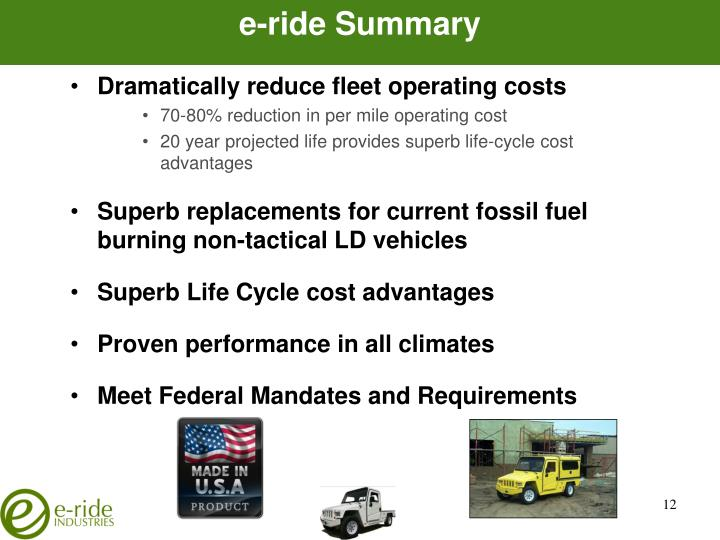 e-ride Summary
