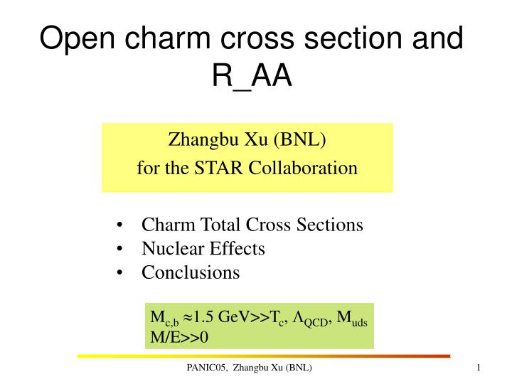 Open charm cross section and r aa