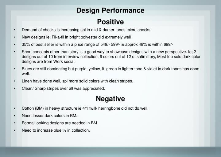 Design Performance
