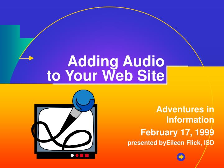 adding audio to your web site