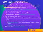 mp3 what it s all about