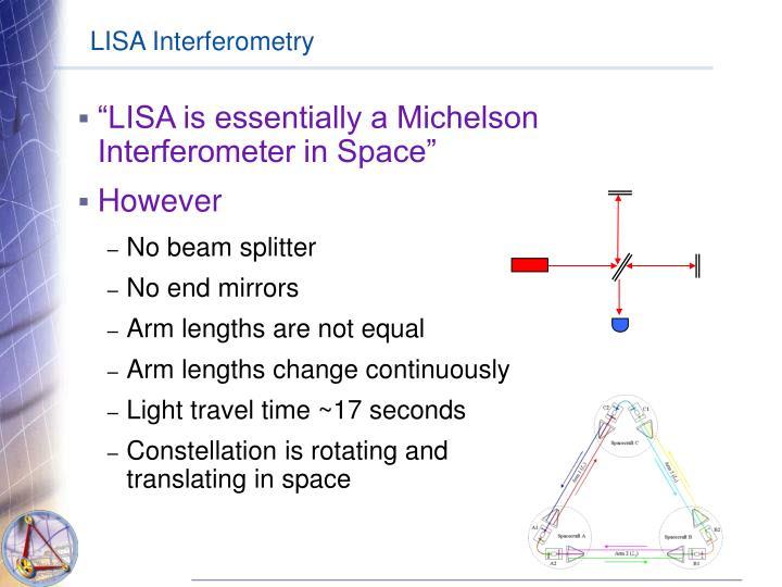 LISA Interferometry
