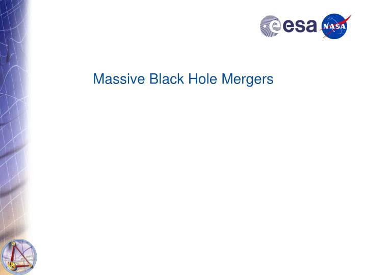 Massive Black Hole Mergers