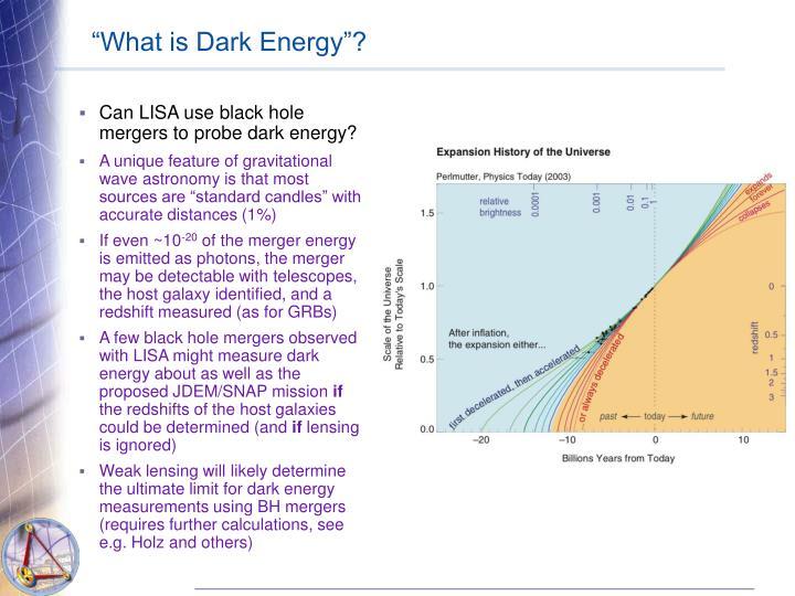 """""""What is Dark Energy""""?"""
