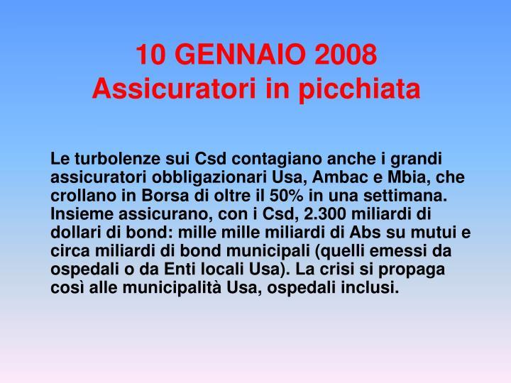 10 GENNAIO 2008