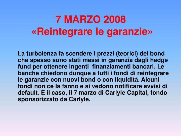 7 MARZO 2008