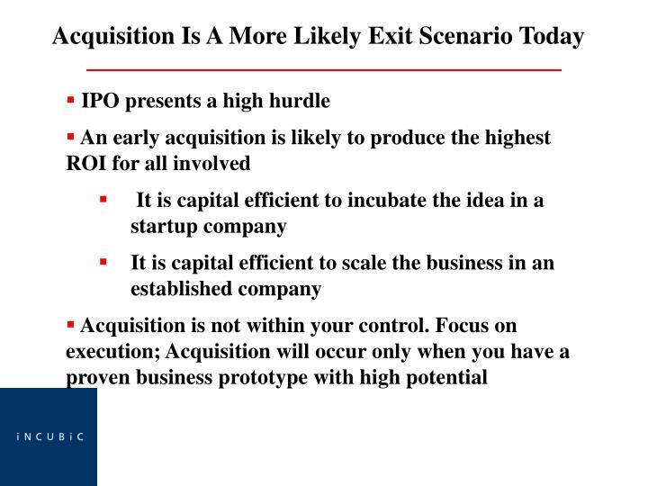 IPO presents a high hurdle