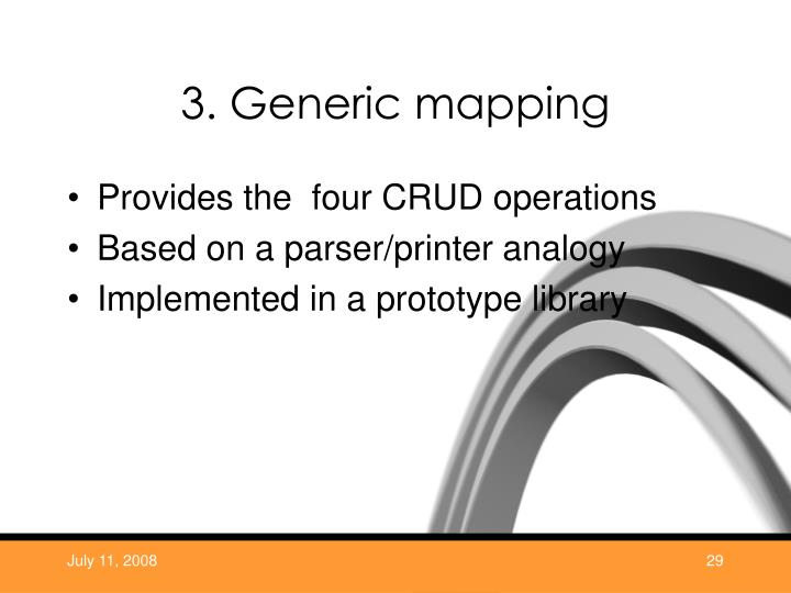 3. Generic mapping