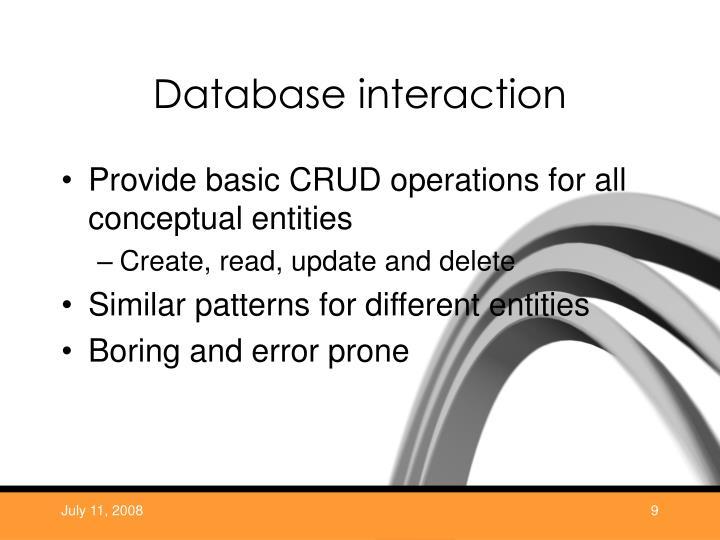 Database interaction