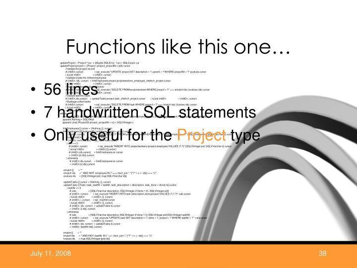 Functions like this one…