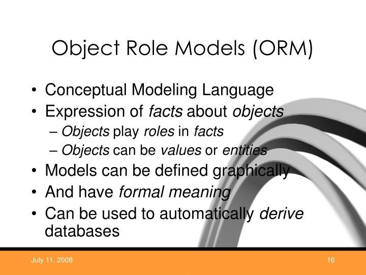 Object Role Models (ORM)