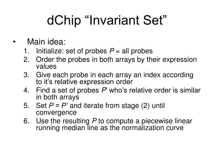 "dChip ""Invariant Set"""