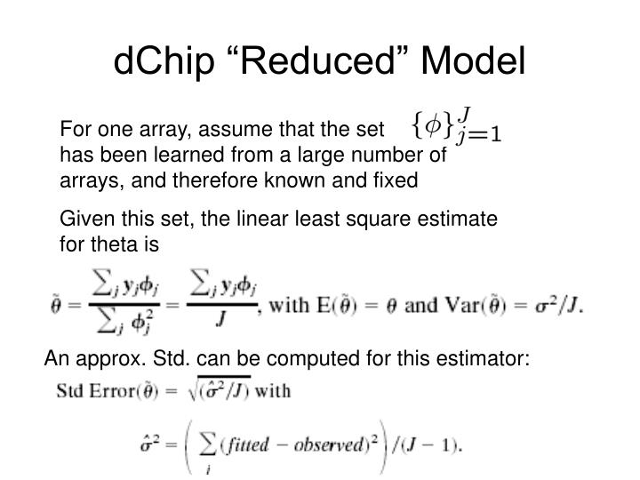 "dChip ""Reduced"" Model"