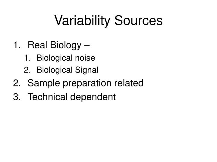 Variability Sources