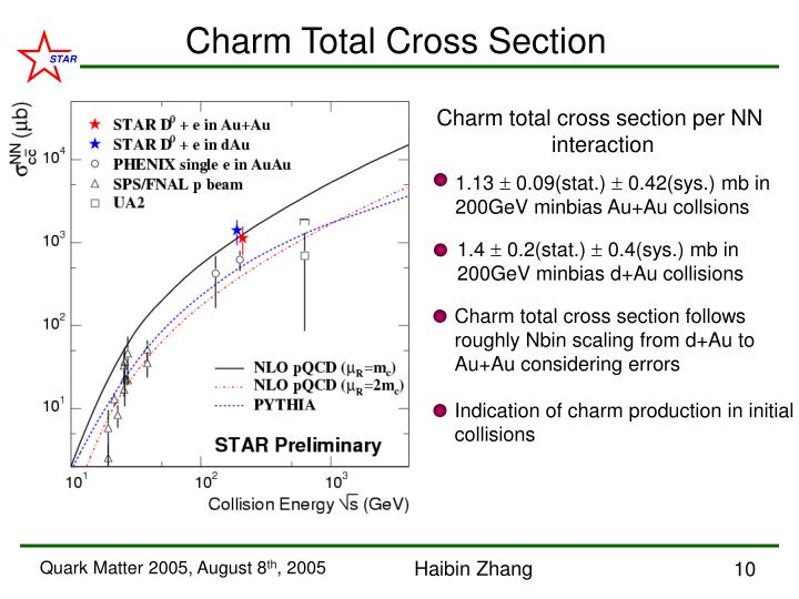 Charm Total Cross Section