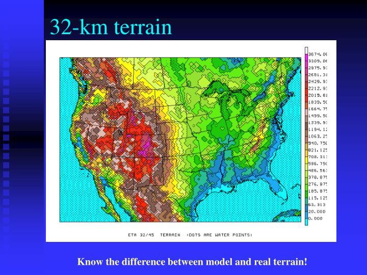 32-km terrain