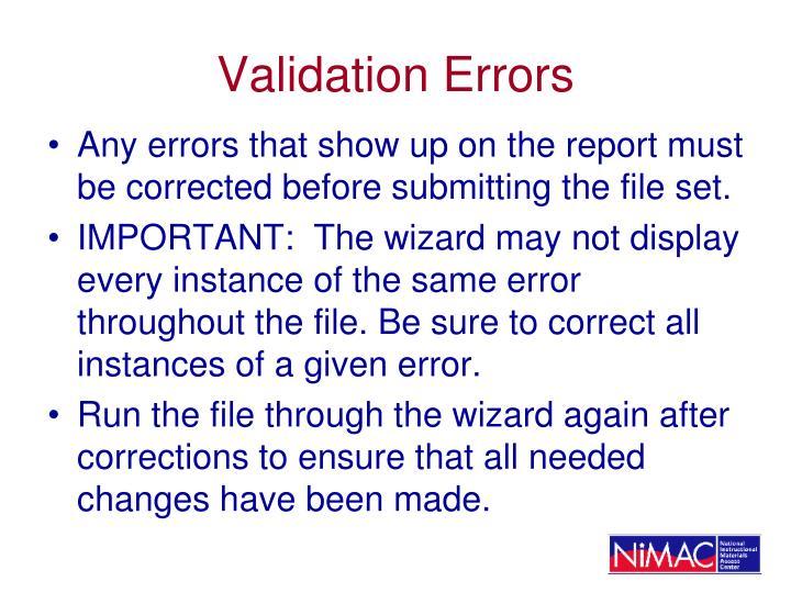 Validation Errors