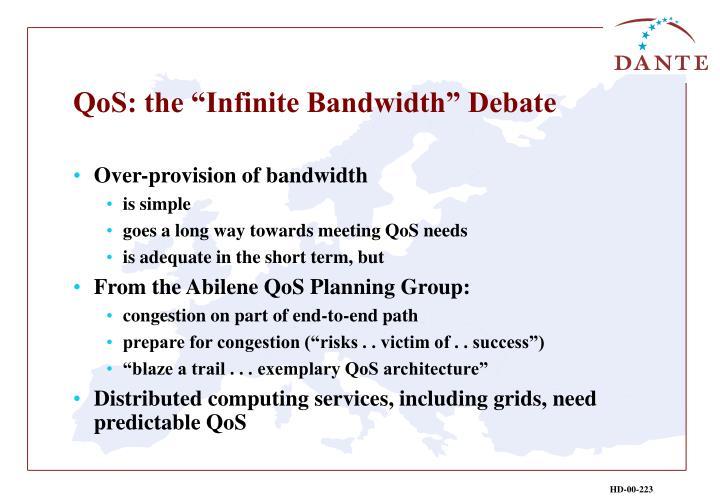 "QoS: the ""Infinite Bandwidth"" Debate"