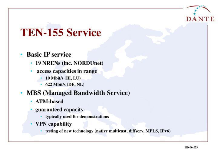 TEN-155 Service