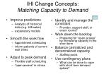 ihi change concepts matching capacity to demand