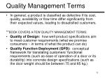 quality management terms