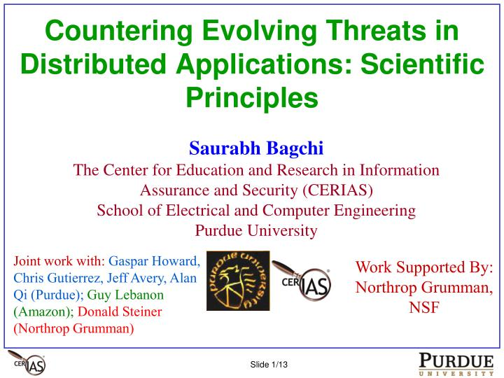 Countering evolving threats in distributed applications scientific principles
